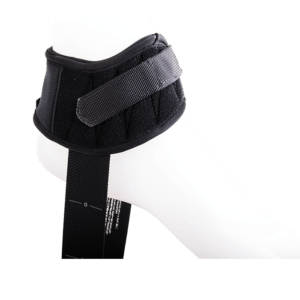 Ankle support with velcro strap to secure the users feet and stabilze