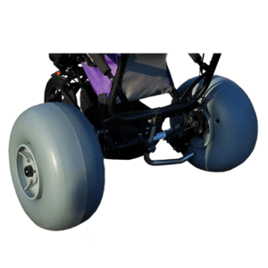 The Delta Jogger can be equipped with baloon wheel, which perform the best on soft ground such as sand, mud etc.