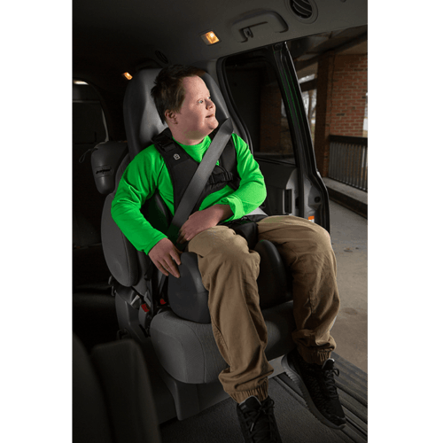 The Booster Car Seat is approved to be used in cars outside europe, the seat can be used in the car aswell as at the dinner table like our normal sitter seat