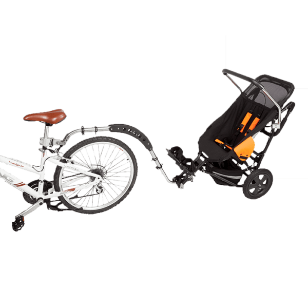 Delta Jogger has a bicycle set, which can be mounted onto a regular bicycle and allow your child to join you on a ride in the open outside