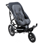 the delta jogger can be fitted with a sitter canvas which makes it possible to fit a sitter seat into the push chair and bring it along outdoor