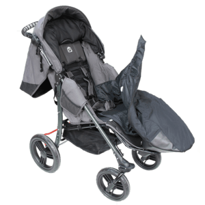 The bag for legs is easy assesble for the child, as you just scub into one side to stay warm and cozy.