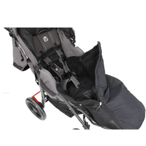 The Bag for legs allows the attached harnesses to be used while in the push chairs