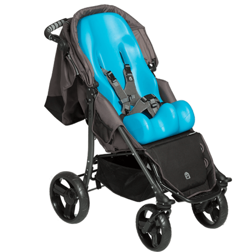 The EIO Push Chair is able to fit a size 1 and 2 sitter seat which will make the ride extra comfortable for the user