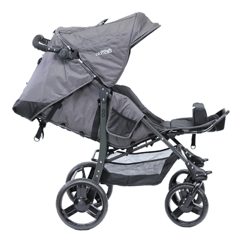 The EIO has an integrated reclineable back which allow children to rest or take naps, and becasue of the canopy is big it great to block out the sun