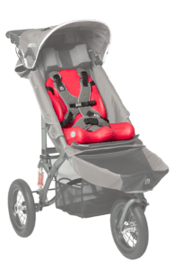 The Jogger can be equipped with our liner size 1 and 2 which are great for making trips even more comfortable for the child