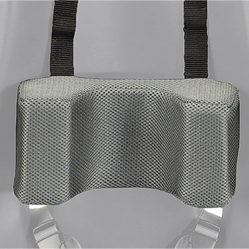 The sitter can be fitted with a headrest to keep the users head in a upright position