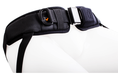 4 Point hip harness with center push release and single strap for adjustments