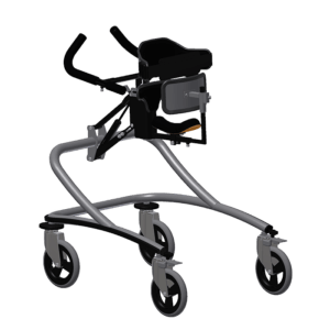 Janneke walking frame evo with full body support angle view