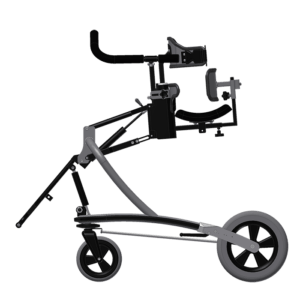 Janneke walking frame FT with direction lock, control rod attached, side view