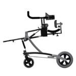 Janneke walking frame EVO height adjustable with the control rod, side view