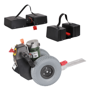 The Electric motor has two sizes of batteries one for small trip and one for longer trips/runs
