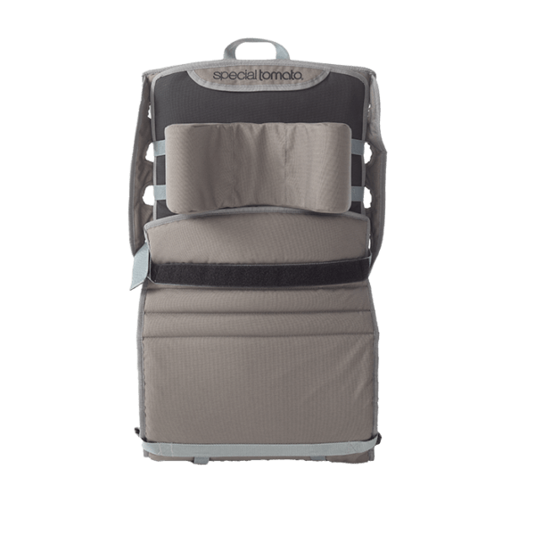 The Out & About is easily folded into a backpack sized carry on, which makes it easy to bring along almost eveywhere.