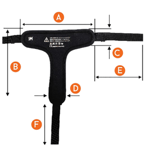 Hip pelvic harness measurrement chart for easy