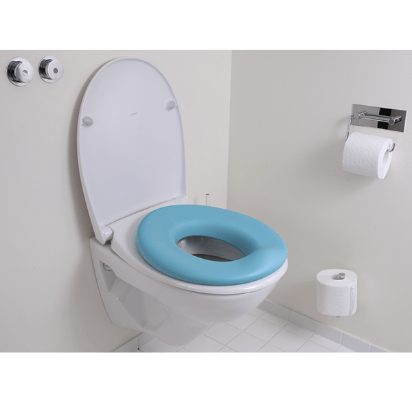 The Potty seat is eassy to use as it just attached to the toilet seat, and will be secured to the toilet with the edges undereneath
