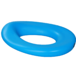 The elongated Potty seat may be used on a regular toilet, Aqua