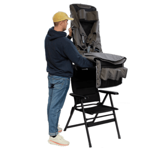 The Recliner is easy to attach to a reclinable chair.