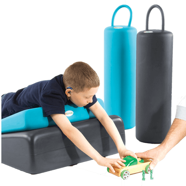 The wedges makes it possible for children to lay on while playing on the ground, it will help incline their body and head above the floor in a certain angle to maintain a good body position/posture