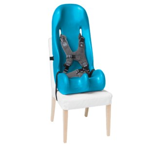 The sitter Seat is a very hygiene as it can be cleaned with normal disinfectant wipes, it also fit to a regular chair which makes it perfect for traveling or going to a restaurant as it will adapt to the chair there with the two simple straps
