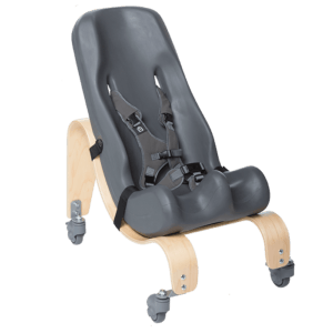 The Sitter Seat can like the floor base be mounted in differnt angels to make sure your child sits in the most comfortable position