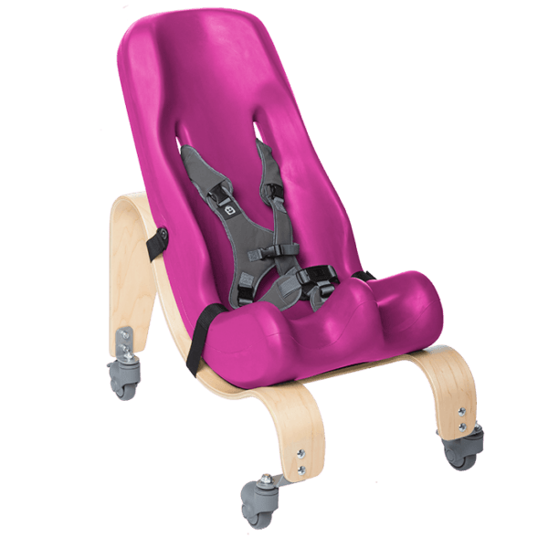 The Sitter Seat can like the floor base be mounted in differnt angels to make sure your child sits in the most comfortable position, Lilac, Purple