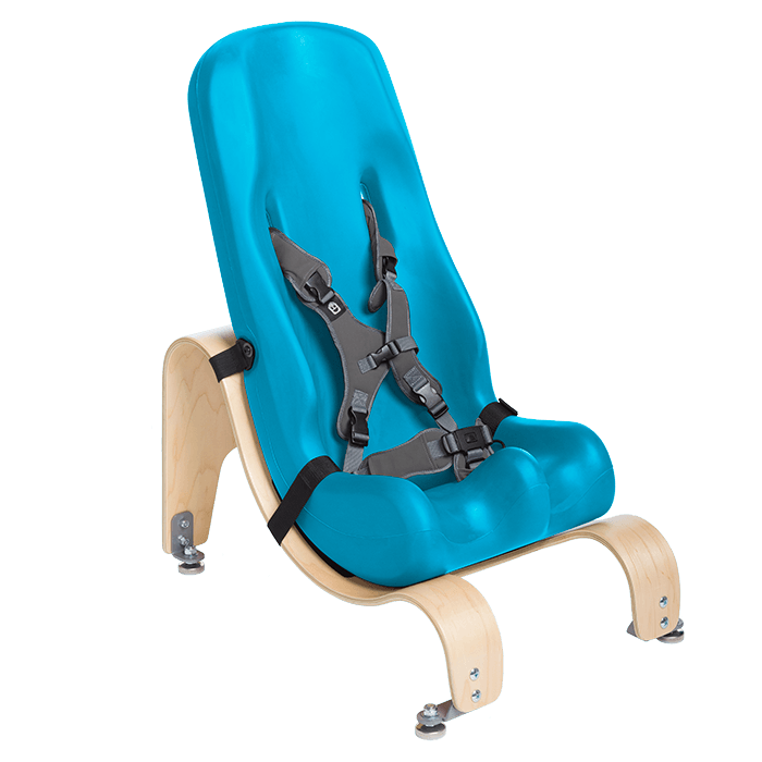 The Sitter Seat can like the floor base be mounted in differnt angels to make sure your child sits in the most comfortable position,Aqua, Blue, Terquish