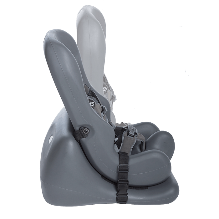 The Floor base alllows the Sitter Seat to be tilted in the needed position of your child, as this pictures shows the various angels the Seat can be mounted on the Base