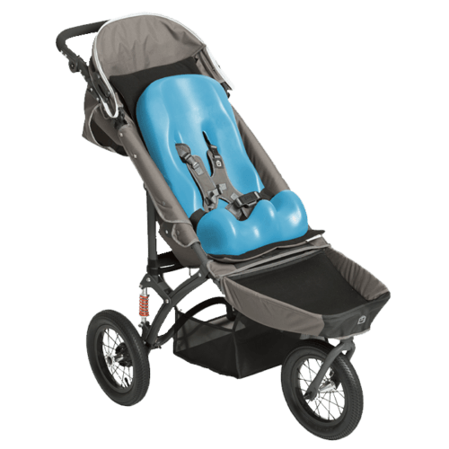 The Jooger Push chair is able to fit a size 1 and 2 sitter seat which will make it a extra comfortale ride for your child