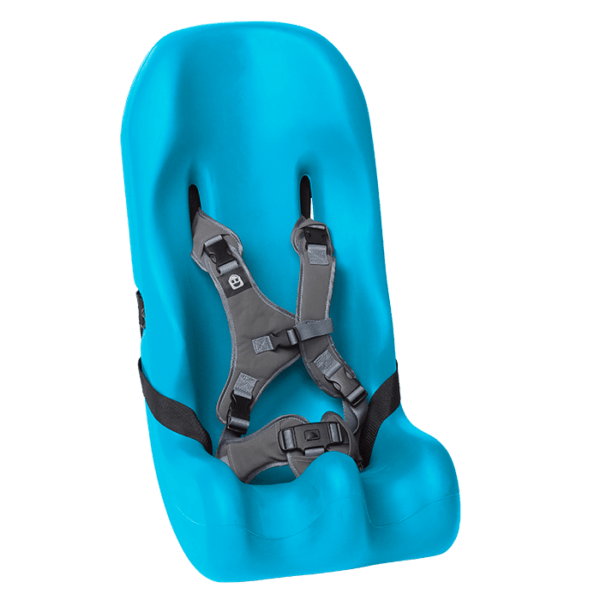 The sitter Seat comes in 5 different sizes, and varies from the age from 1 year and up to 14-15