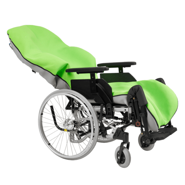Vakucoon is a moldable seating which makes a perfect fit for the user body shape, and it is made to fit wheelchairs/push chairs and buggies.