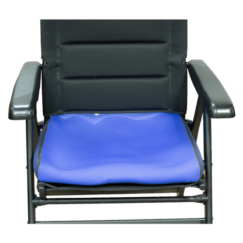 A flat seat cushion before custom shaped
