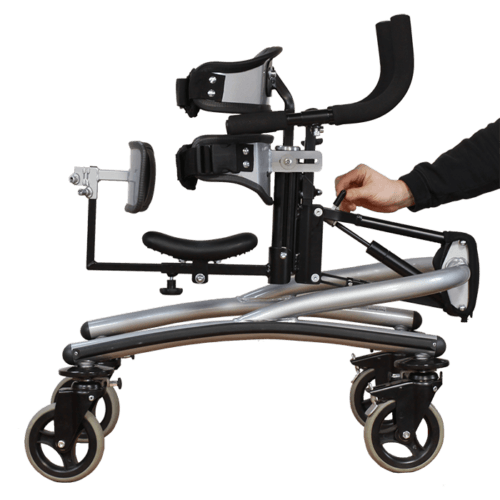 Walking Frame with light weight gas spring for height adjustments