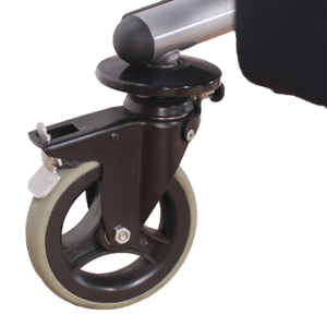 Walking frame swivel wheel brake