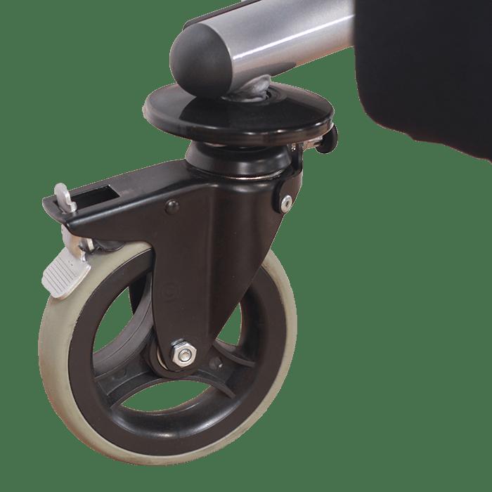Walking frame swivel wheel brake